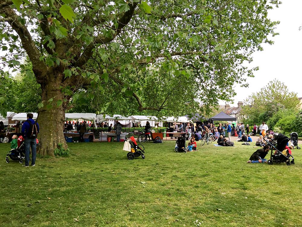 Leyton Food Market in Coronation Gardens