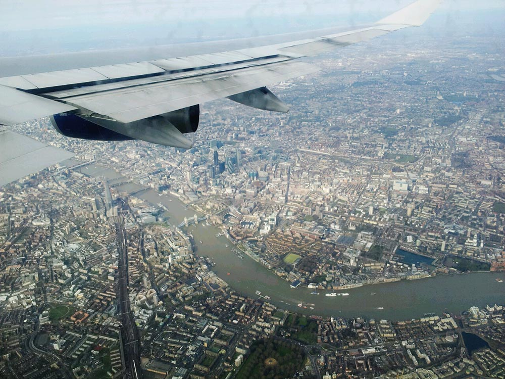 On a Swirling Descend over City of London...